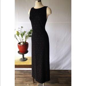 Vintage Sparkling Floor Length Black Gown